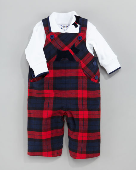 Plaid Scottie Dog Jumper, 3-9 Months