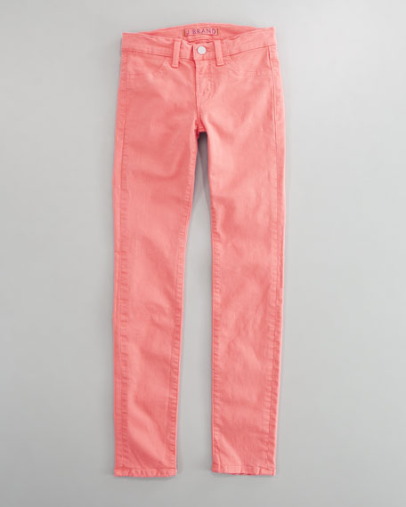 Luxe Twill Skinny Jeans, Carnation