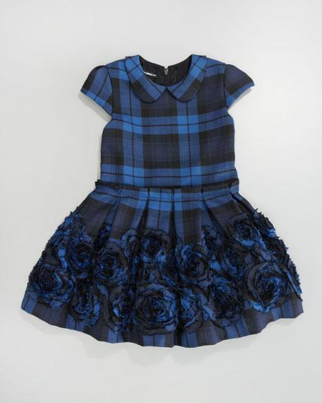 Box-Pleat Plaid Dress