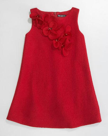 Floral Boucle Shift Dress