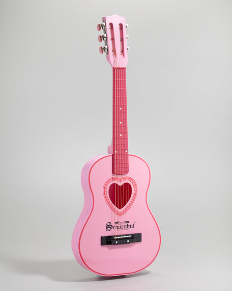 Pink String Acoustic Guitar