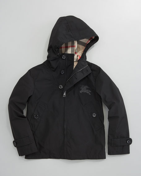 Packable Hooded Jacket, Black