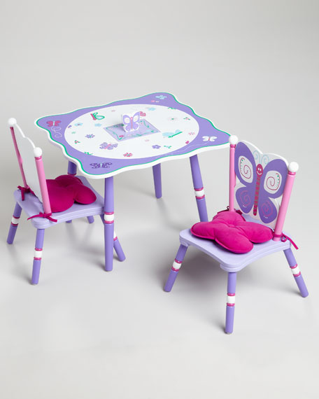 Butterfly Table & Two Chair Set