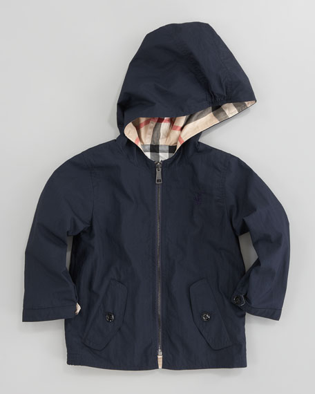 Reversible Check Rain Jacket