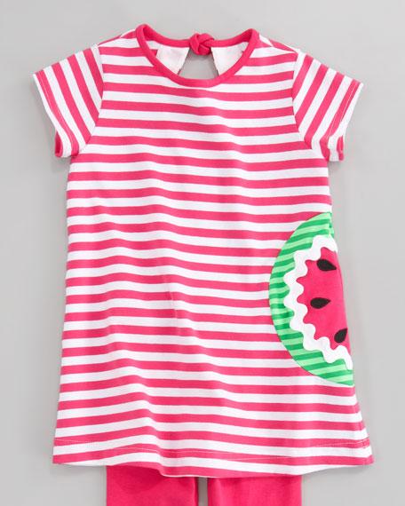 Watermelon Striped Tunic, Sizes 2T-3T
