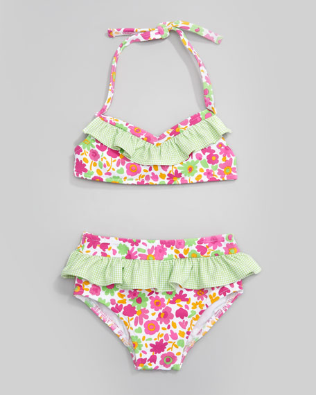 Sunny Side Up Floral Two-Piece Swimsuit, Sizes 4-6X
