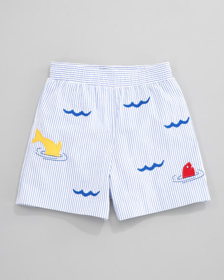 Dive In Seersucker Swim Shorts