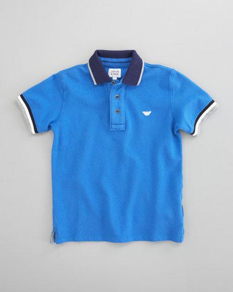 Striped Polo, Blue
