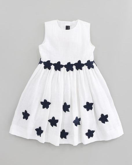 Linen Floral Party Dress