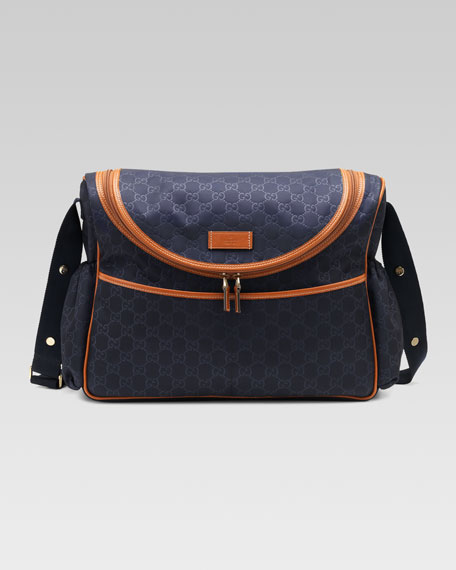 GG Messenger Diaper Bag, Navy/Luggage