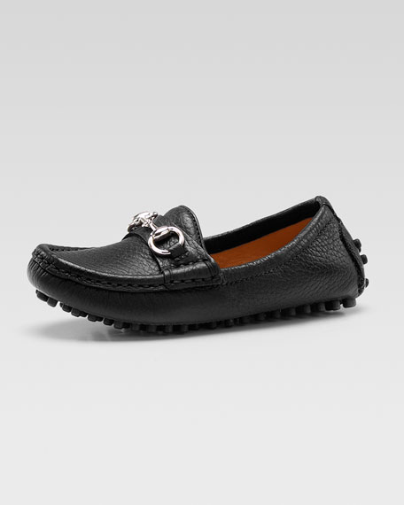 Damo Leather Driving Loafer, Black