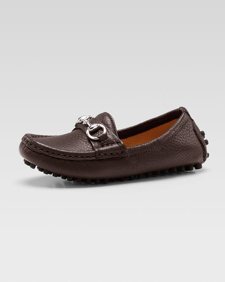 Damo Leather Driving Loafer, Dark Brown
