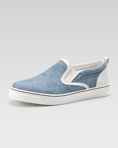 Board GG Denim Slip-On Sneaker, Kids' Sizes
