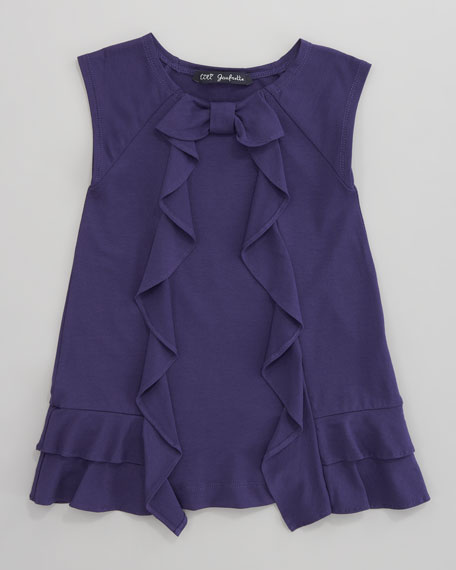 Laurore Jersey Ruffle Dress