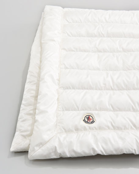 Packable Quilted Blanket, Cream