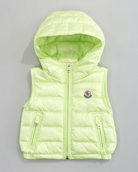 Patrick Detachable-Hood Vest, Light Green