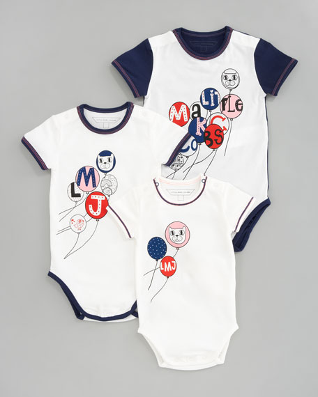 Baby's 1st Year Bodysuit Gift Set, Ecru Blue