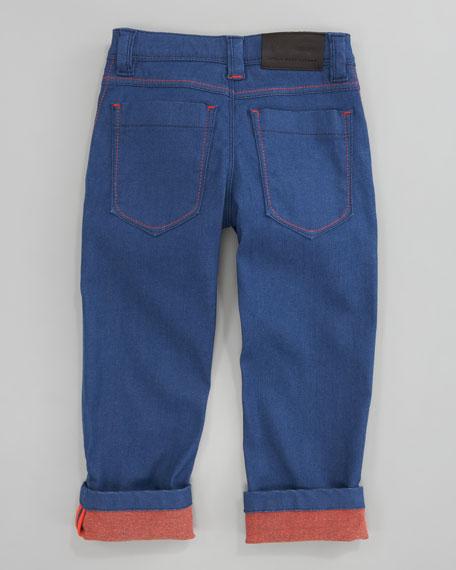 Colored Cuffed Denim, Sizes 6A-10A