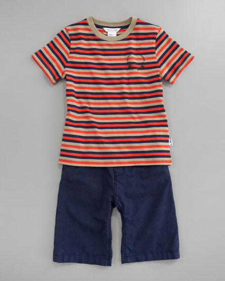 Striped Short Sleeve Tee, Sizes 6A-10A