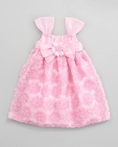 Rose Chiffon Ribbon Dress