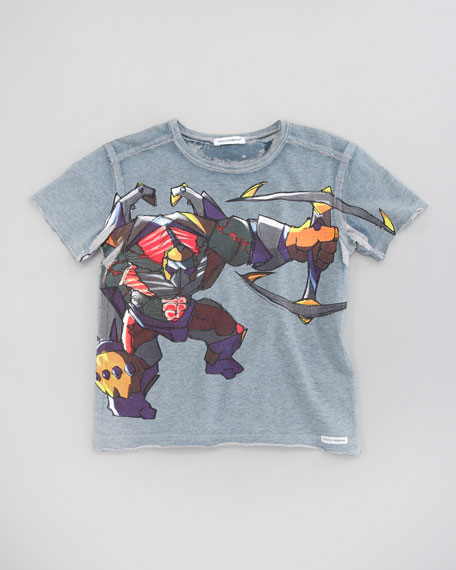 Warrior Graphic Print Tee, Sizes 4-6