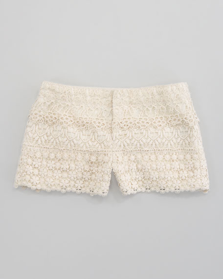 Tiered Crocheted Short, Chic Cream