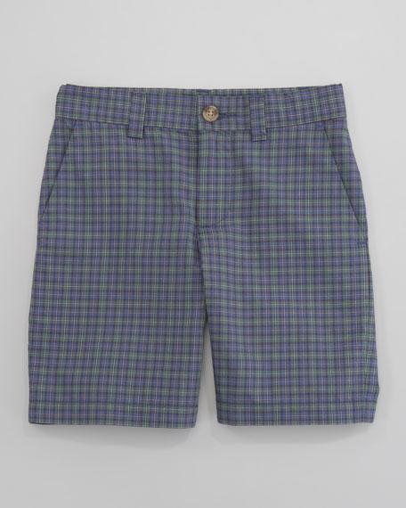 Preppy Madras Shorts, Navy Multi