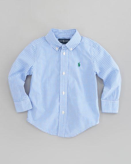 Blake Long Sleeve Gingham Shirt, Sizes 2T-7
