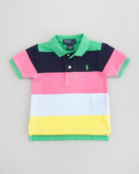 Lifesaver Striped Polo Shirt, Sizes 2-7