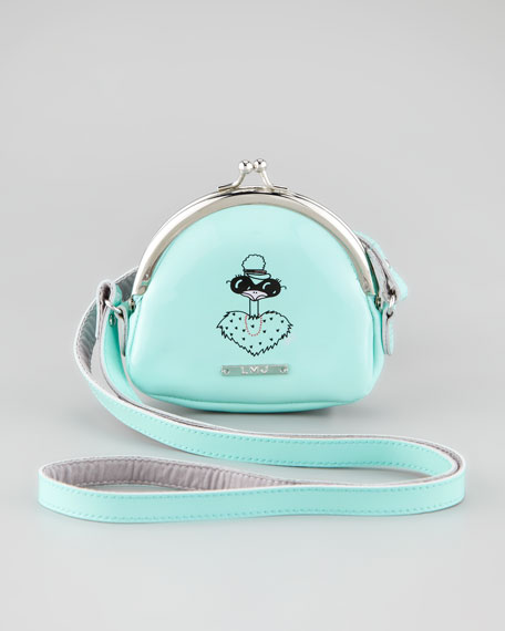 Girls' Printed Snap Purse, Teal