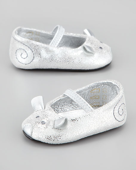 Baby Mouse Mary Jane Ballet Flat, Silver