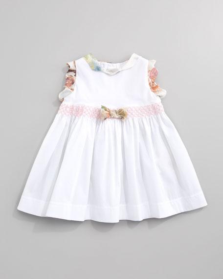 Sleeveless Floral-Ruffle Dress, Sizes 3-9 Months