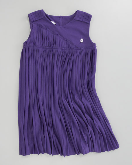 Pleated Jersey Dress, Sizes 5-8