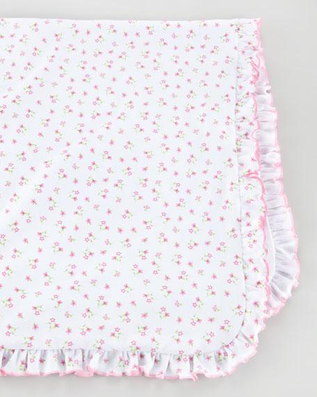 Garden Pink Floral Blanket