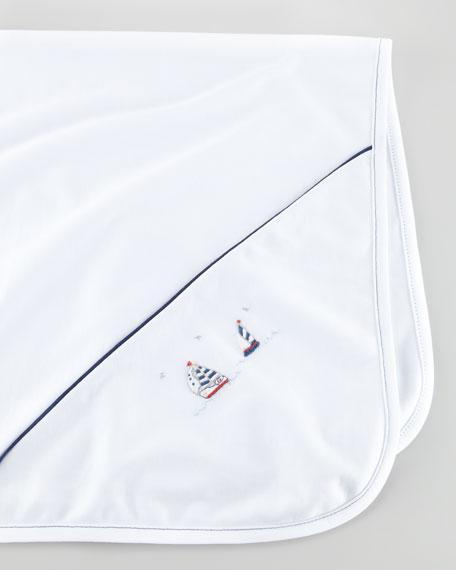 Starboard Sailboat Embroidered Blanket