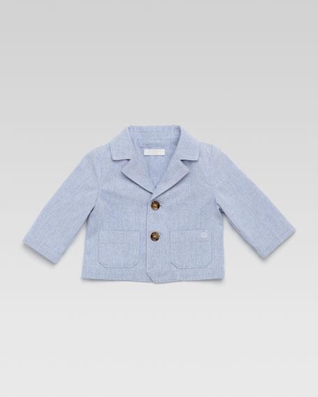 Striped Cotton Pique Jacket