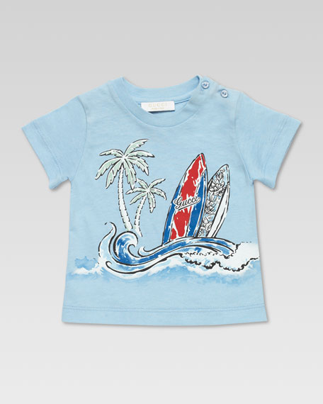 Gucci Surf Tee Shirt, Blue