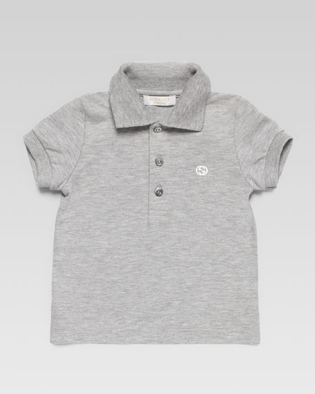 Short-Sleeve Polo, Gray
