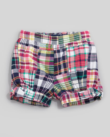 Patchwork Madras Shorts, 12-24 mo.