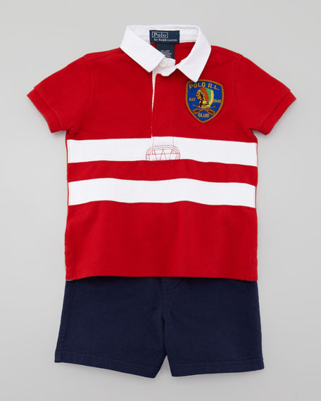 Rugby Shirt & Shorts Set, 3-9 Months
