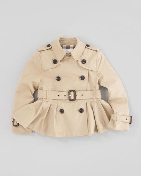 Cropped Skirted Trenchcoat, Honey