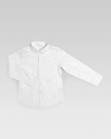 Cotton Poplin Shirt, White