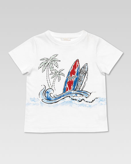 Gucci Surf Tee Shirt, White