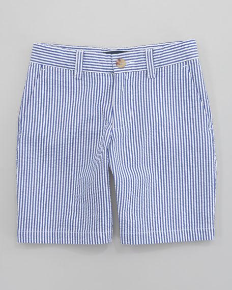 Preppy Seersucker Shorts, Sizes 8-10