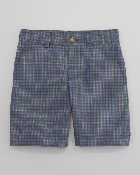 Preppy Madras Shorts, Sizes 8-10
