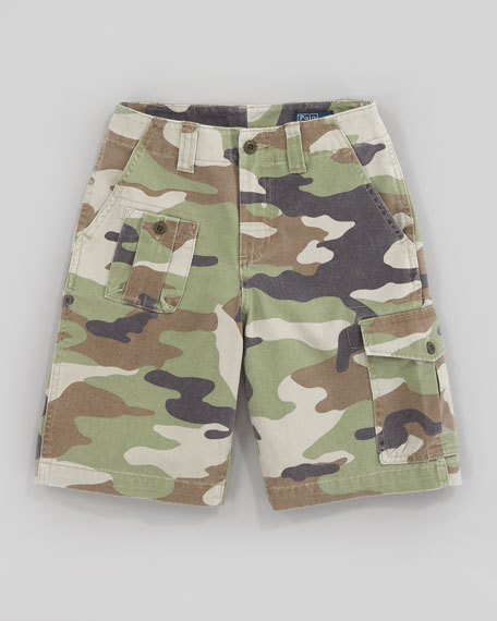 Corporal Camouflage Shorts, Sizes 8-10
