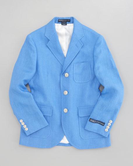 Linen Princeton Jacket, Sizes 5-7