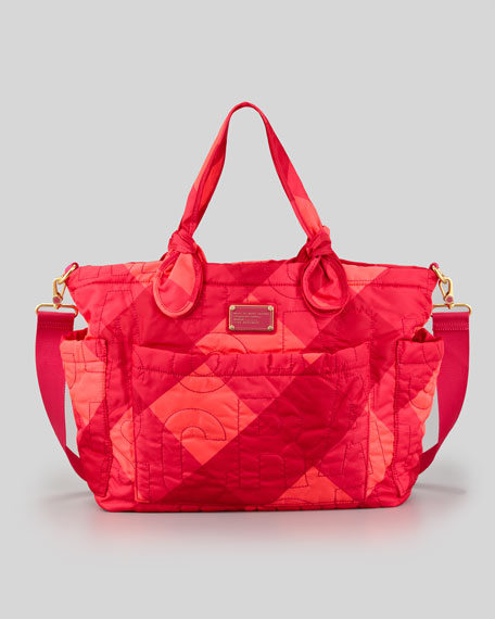 Eliz-A-Baby Pretty Nylon Bag, Poppy Pink