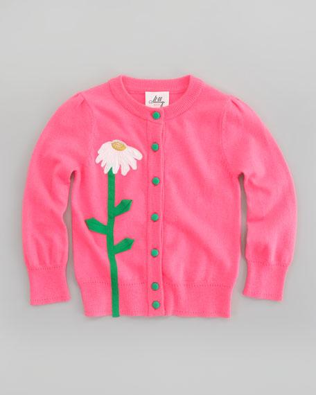 Flower Long Sleeve Cardigan, Sizes 8-10