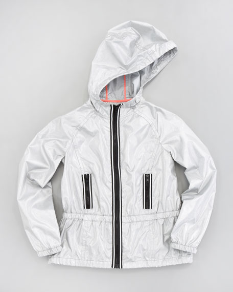 Reflective Tech Zip Jacket, Sizes 8-10